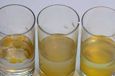 Orange oil in different alcohols