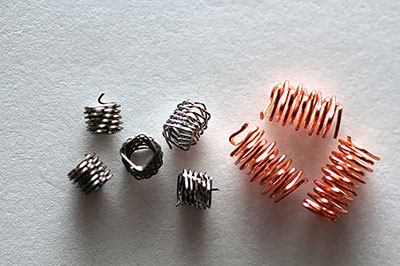 Stainless steel and copper springs