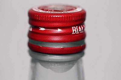 Metal cap sealed with white candle wax