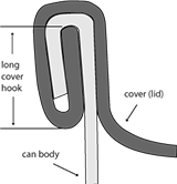 double seam hook cover long
