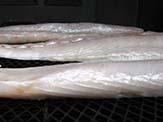 Well developed pellicle in Spanish mackerel fillet.