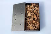 Wood chips smoking box.