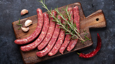 Kosher Beef Sausage with Flour