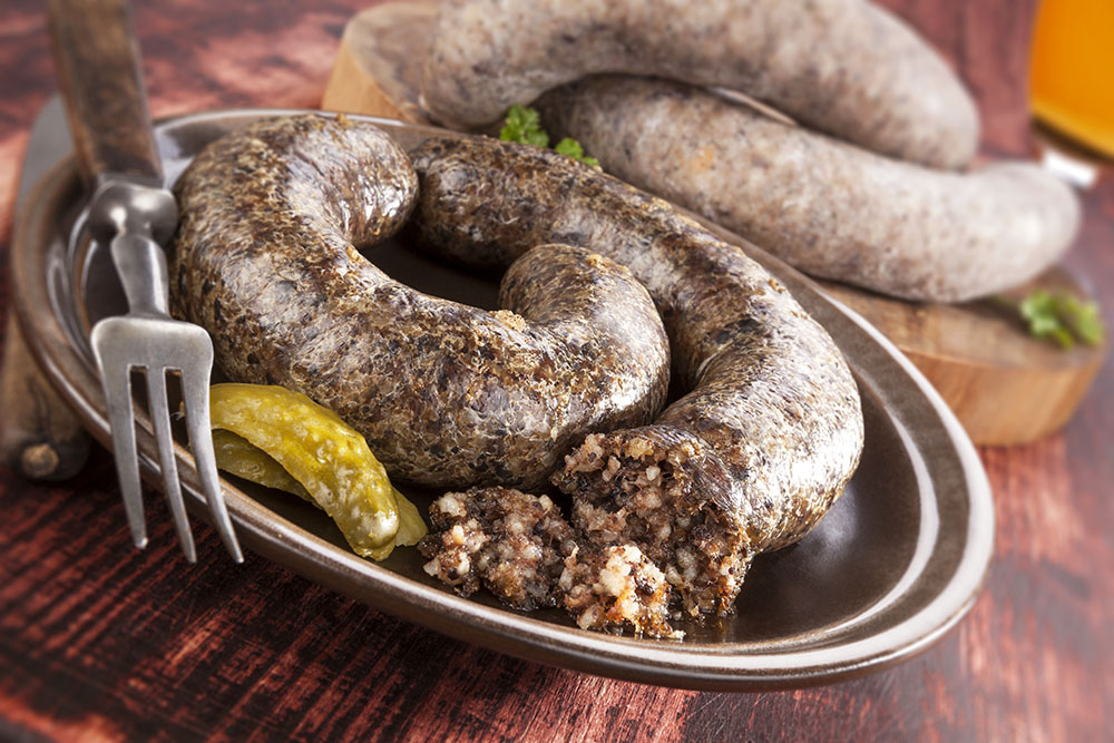 Blood Sausage with Rice