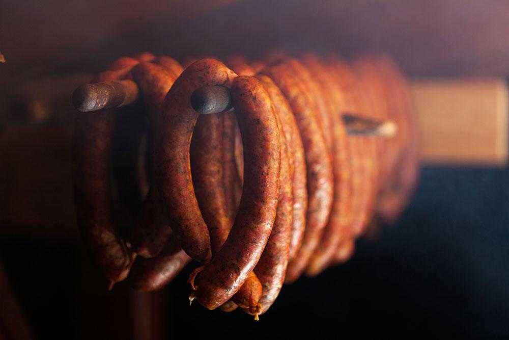 Russian Sausage Hot Smoked
