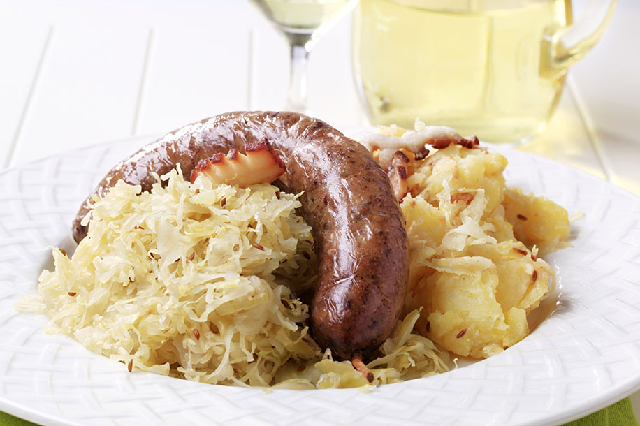 Image result for luxembourg sauerkraut sausage