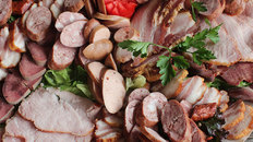 Variety of meats and sausages