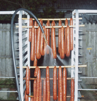 cooling sausages