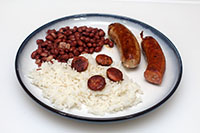 Chaurice with rice and beans