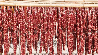 Drying Chinese Sausages