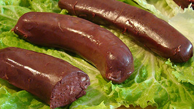 Black pudding sausage