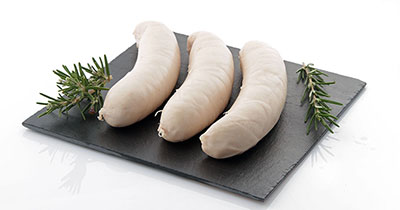White pudding cooked sausage