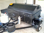 Smoke Daddy™ generator attached to the trailer drum