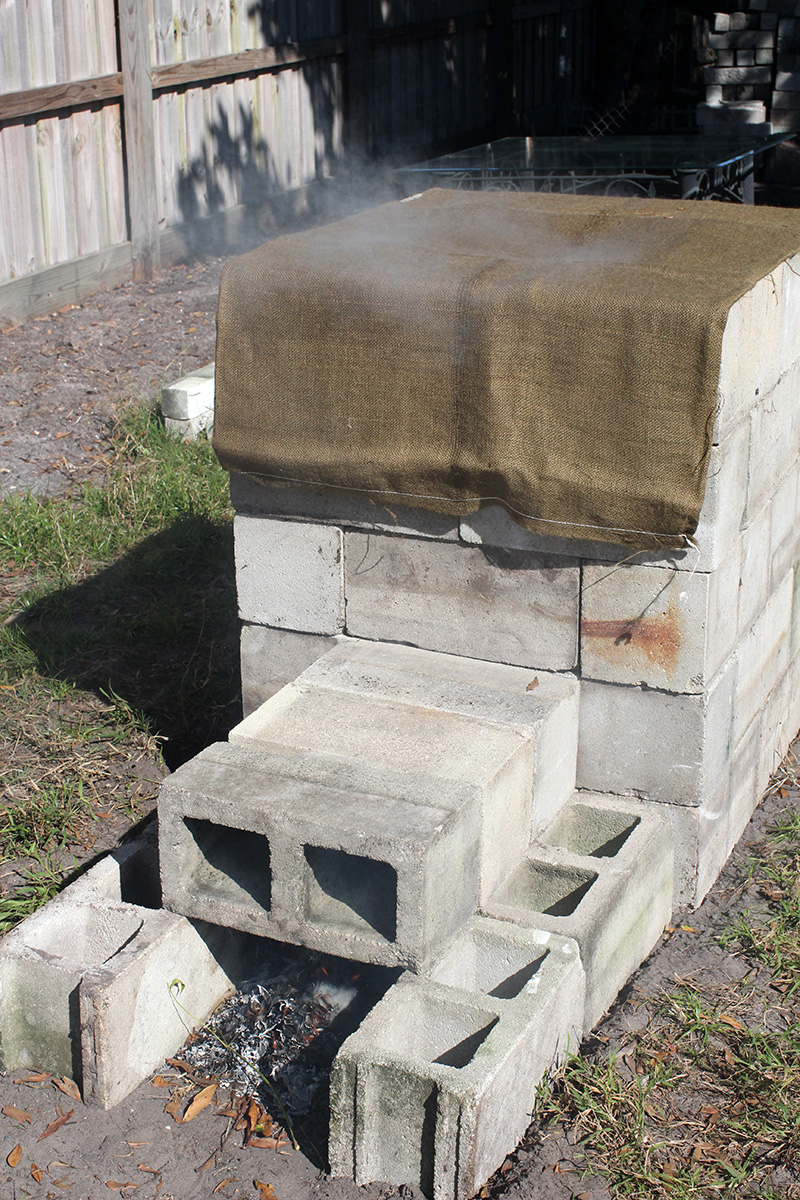 A Block Concrete Block Smoker