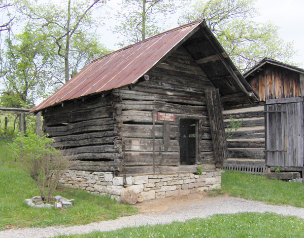 Old smokehouses served as meat smokers and as storage ...